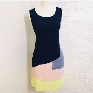 Bcbgmaxazria Color Block Chiffon dress Haley